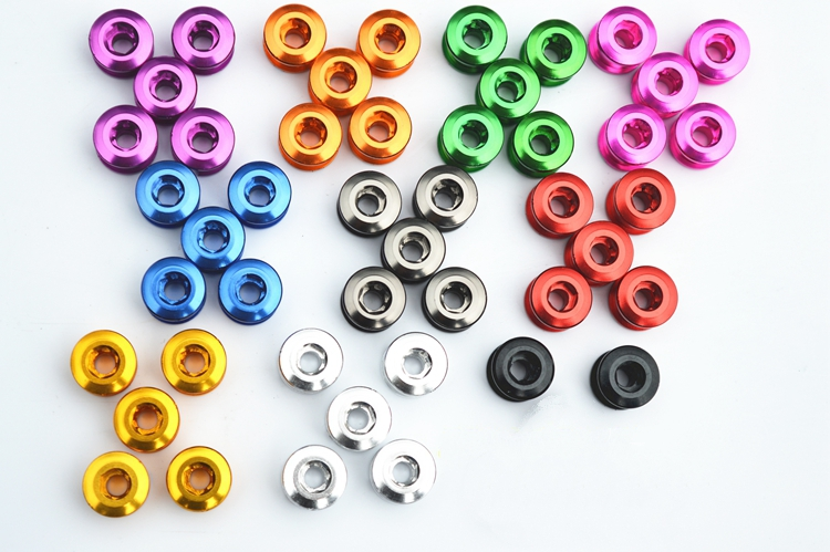 Single Double Crankset Chainring Bolts Nuts for Racing MTB Bike