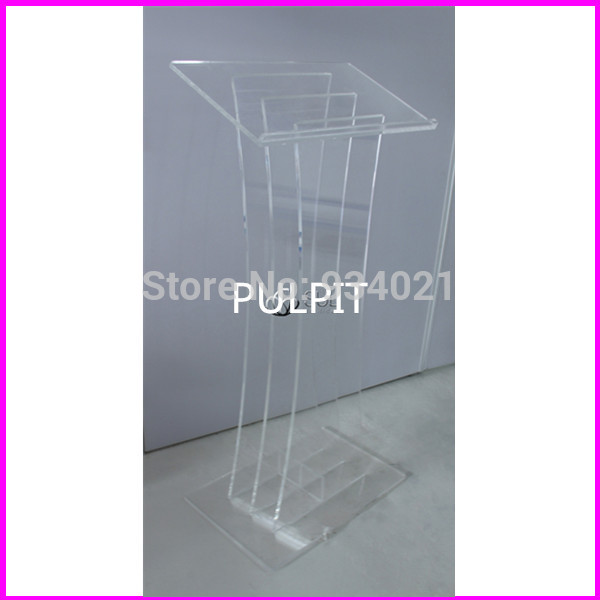 Free Shipping Clear Lectern, Acrylic Podium, Plexiglass Church Pulpit Plexiglass