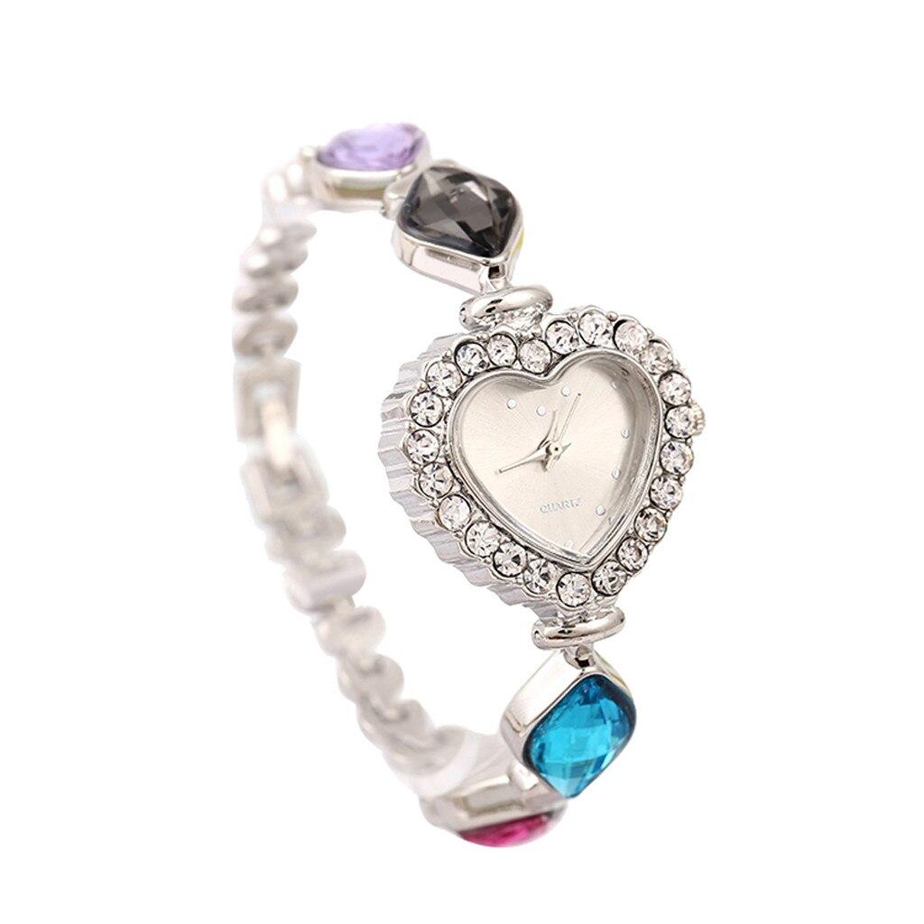 2019 Saat Frauen Runde Voller Diamant Armband Uhr Analog Quarz Bewegung Armbanduhr Armband Dropshipping Relogio Feminino Reloj RegelmäßIges TeegeträNk Verbessert Ihre Gesundheit Uhren