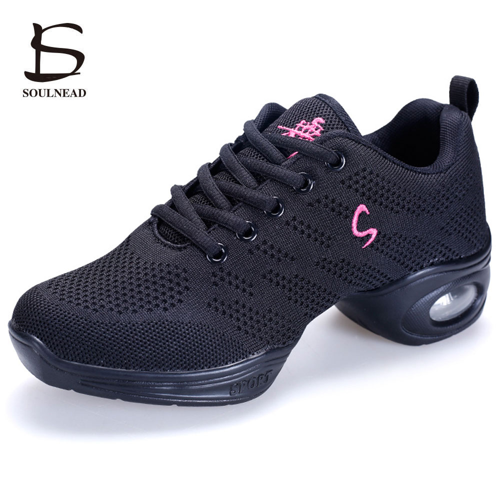 New Women's Sneaker Dance Shoes Flying Weaving Breathable Cozy Jazz Shoes Ladies Fitness Dancing Shoes High-quality Sports Shoes jazz shoes woman sports sneaker children dance shoes leather women shoes white four square fitness dance shoes