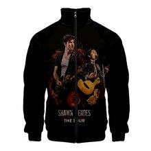 Canadian male singer Shawn Mendes Kpop New Windbreaker Women / Mens Slim fit Zipper Leisure HIP HOP Jacket
