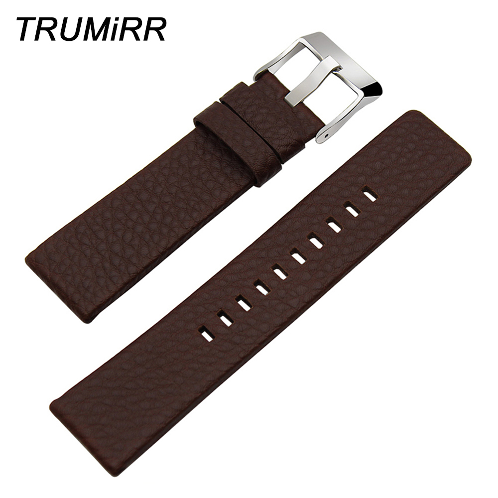 20/24/26/27/28mm Genuine Cow Leather Watchband +Tool for DZ7313/22/7257 Men Women Watch Band Wrist Strap Steel Buckle Bracelet high quality genuine calf hide leather for diesel watch strap band for dz7257 dz7345 27mm 28mm 30mm 32mm 34mm man watchband tool