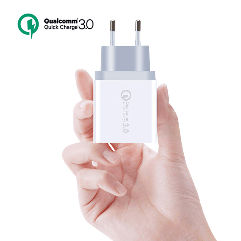 1USB QC 3.0 travel fast wall charger Universal Phone quick charging EU/US for iPhone Samsung Xiaomi POWER BANK Compatible 2.0