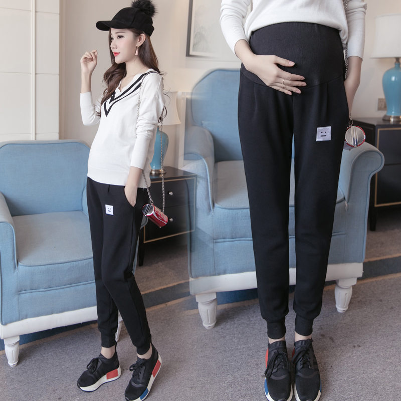 Pregnant women in spring and summer pregnant women pants casual pants pants feet feet pants spring summer pants