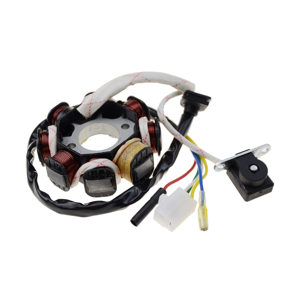 Goofit 8 Coil 5 Wires Ignition Stator Magneto Gy6 50cc 60cc 80cc Atv Wiring 150cc 4 Stroke Paliden Motorcycle Scooter Mop K078 504 In Motorbike Ingition From
