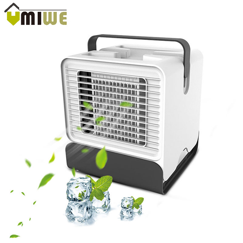 Air Cooler Portable Air Conditioner Fan 3 IN 1 USB Desktop Mini Air Cooling Fan Ventilador Humidifier Purifier For Home Office