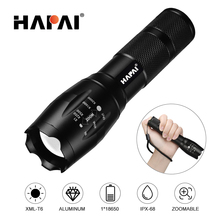 Ultra Bright Powerful LED Flashlight Zoom Tactical Torch XML T6 Rechargeable Outdoor hunting Camping LED torch use 18650 battery powerful uv red laster xml t6 led flashlight 4000 lumen hunting tactical flash light lantern lamp torchuse 18650 aaa battery