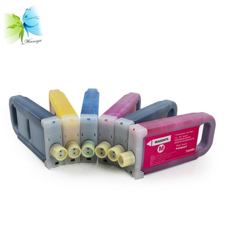 Compatible Cartridge canon PFI-706 BK Black Pigment Ink ipf8400 ipf9400 8400s