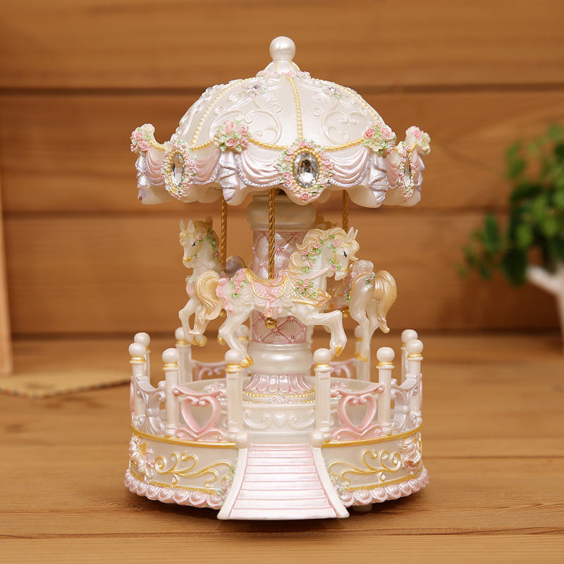 Creative Christmas Gifts.Us 84 8 52 Off Light Carousel Music Box Creative Christmas Gifts For Friends Send Girls Birthday Gift In Stones From Home Garden On Aliexpress