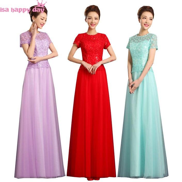 Élégant 2018 mode sexy demoiselles d honneur robe longue taille 8 femmes  robe la mariée robes avec manches pour un invité de mariage W3583 da2b5a1fec3