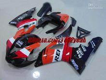 Мотоцикл Обтекатель комплект для YAMAHA YZF R1 YZF-R1 2000 2001 YZFR1 YZF1000 00 01 ABS Красный orange Обтекатели комплект + 7 подарки