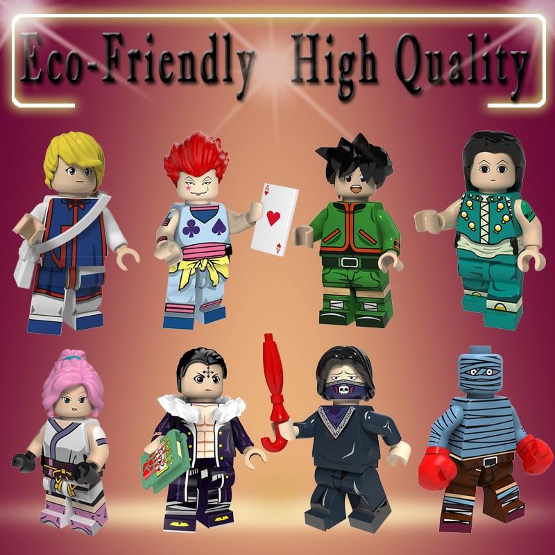 Single HUNTER X HUNTER Figure Gon Freecss Machi Kulolo FEI Bonolenov Kurapika Hisoka Illumi Building Blocks Toys PG8170