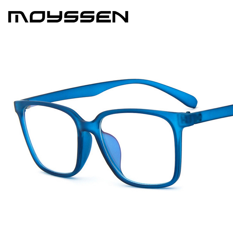 e766b08236a1 Moyssen Men s Super Large Oversized Square Frame Geek Eyeglasses Women Nerd  Decorative Myopia Glasses Prescription Eyewear