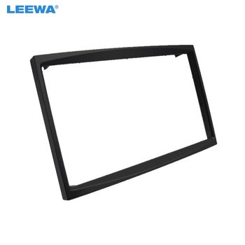 LEEWA Car Radio Audio 2DIN Panel Fascia Frame for Fiat Scudo CITROEN C2/C3 PEUGEOT (207/307) ProAce Plate Dash Mount Kit #5071 image