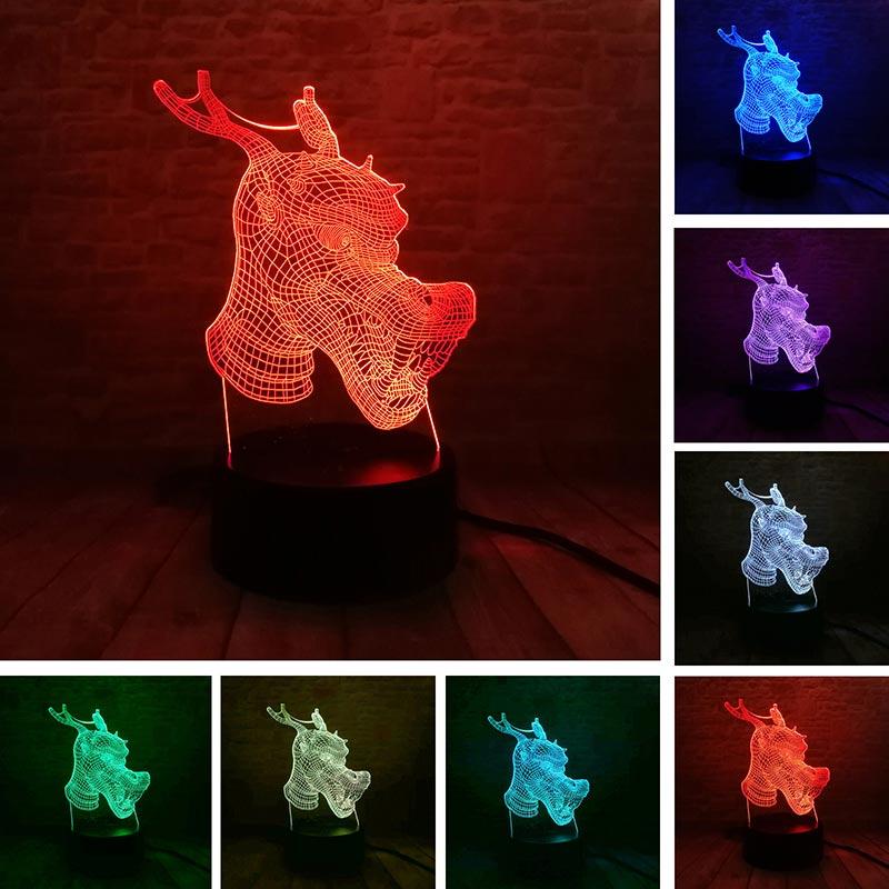 Touch LED Bunte Visuelle 3D USB Drachen Und Phoenix Doppel Gl/ück Nachtlicht Tischlampe Chinesische Heiraten Wohnkultur USB Luminaria Geschenk