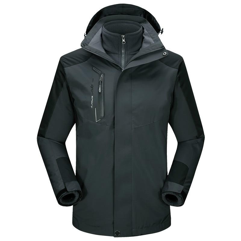 Men s Winter Inner Fleece Waterproof Snowboard Jacket Outdoor Sport Warm Brand Coat Hiking Camping Trekking