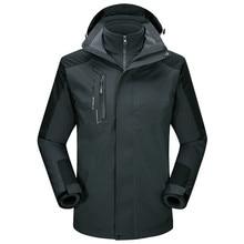 Men's Winter Inner Fleece Waterproof Snowboard Jacket Outdoor Sport Warm Brand Coat Hiking Camping Trekking Skiing Male Jackets недорого