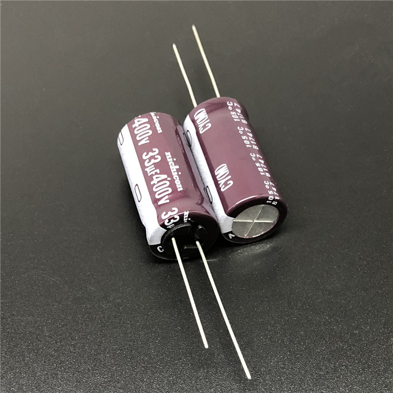 5pcs/50pcs 33uF 400V NICHICON CY Series 12.5x25mm High Ripple Current Long Life 400V33uF Aluminum Electrolytic Capacitor