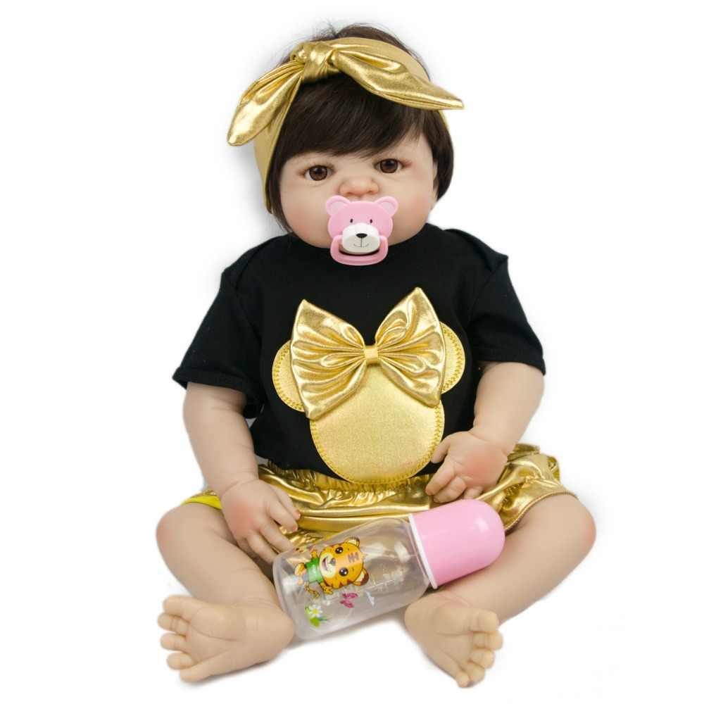 Детская Счастливая кукла 55 см тело золото викторианская Новая модная Кукла настоящая красавица Девушка