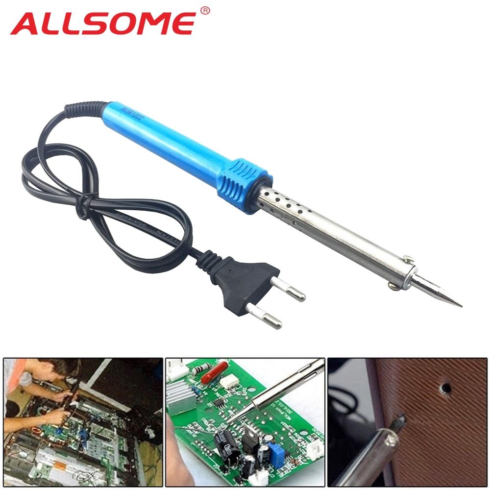 ALLSOME 110V 220V Electric Soldering Iron External Heated Soldering Iron Hand Welding Solder Tool Kit 30/40/60W EU US Plug