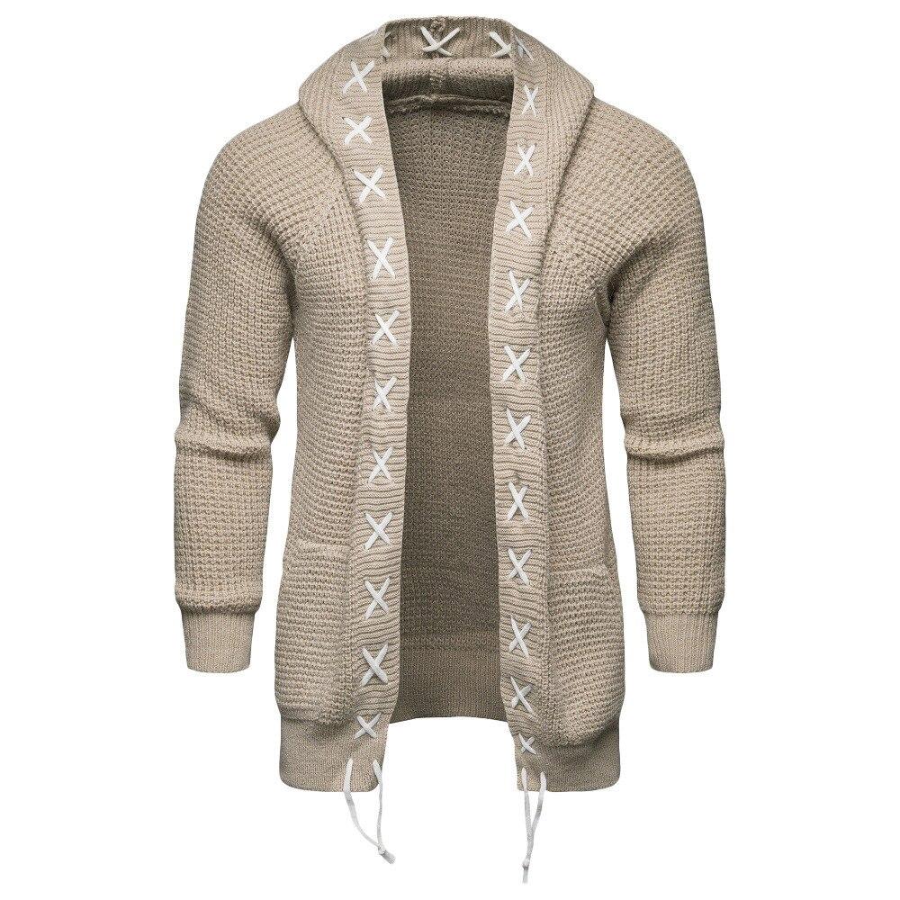 2018 Männer Dünne Mantel Winter Herren Langarm Jacke Graben Stilvolle Strickjacke Stricken Warme Strickwaren Jacken Für Männliche Mantel