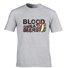 """Blood Sweat and Beers"" rugby men's t-shirt"