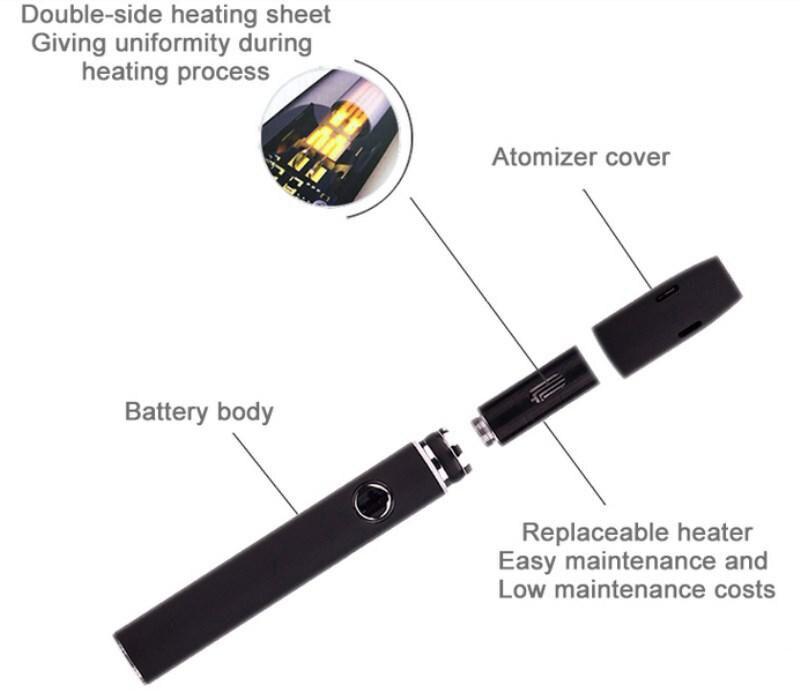 , Original Kamry Kecig 2.0 plus Kit heat not Burn Vape Pen 650mah for Heating Tobacco Cartridge Electronic Cigarette Vaporizer