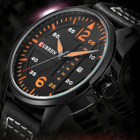 CURREN Luxury Brand Male Relogio Auto Date Week Casual Leather Men Sports Quartz Wrist Watch