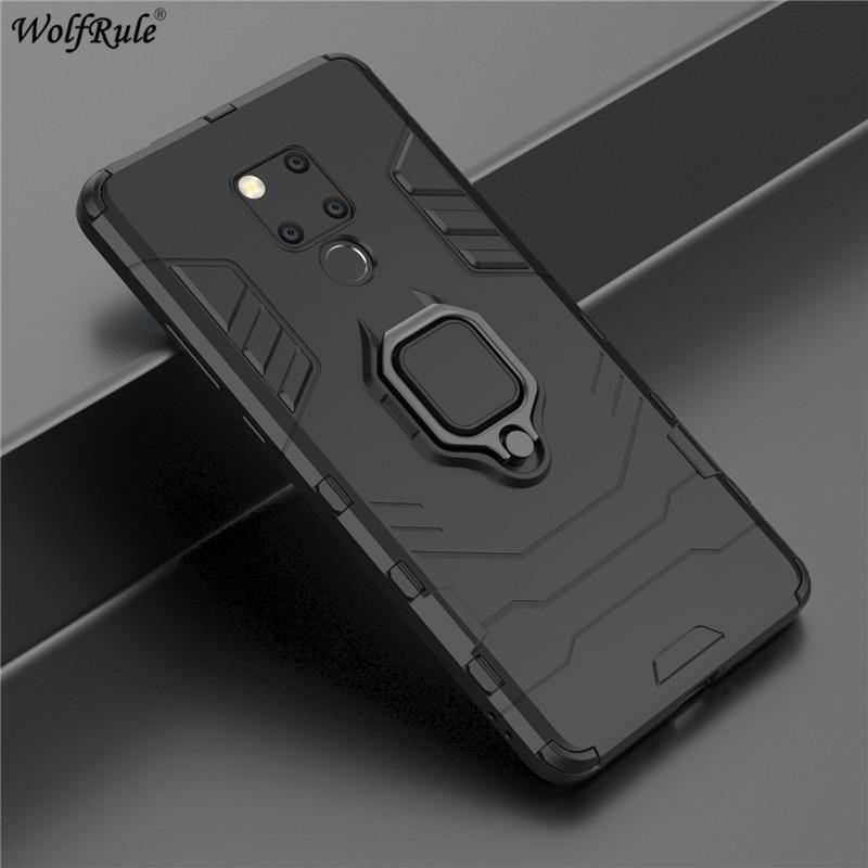 Copertura Huawei Compagno di 20 X Caso WolfRule Titolare Anello Armatura Del Respingente Cassa Del Telefono di Protezione Per Huawei Compagno di 20 X 20X copertura 7.2''