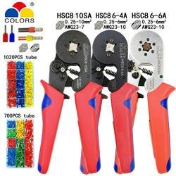 HSC8 10SA 0,25-10mm2 23-7AWG клещи для опрессовки HSC8 6-4A HSC8 6-6 0,25-6mm2 мини круглый нос плоскогубцы трубки иглы терминалы ящики