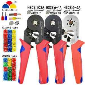 HSC8 10SA mini electrical pliers Tubular terminal crimping tools 0.25-10mm2 23-7AWG
