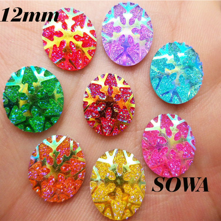 Free Shipping DIY NEW 30PCS Size12mm Multi Color Resin Round Shape Flatback Scrapbooking for phone/wedding Decoration