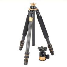 QZSD Q1000C Carbon Fiber Professional Tripods For Photography Big Panoramic Ball Head DSLR Action Camera Tripodes Para Camaras