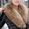 2016 Novas Mulheres Inverno Real Raccoon Fur Shawl Collar Scarf Marca Nova Venda Quente Por Atacado
