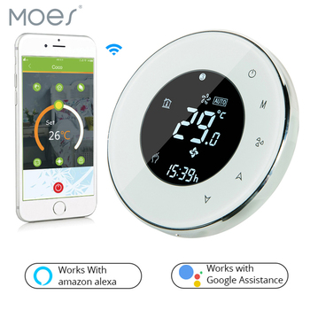 BHT-6000-GBLWW LCD Touch Screen Electric Underfloor Heating Thermostat Backlight WIFI 16A Works with Alexa Google Home