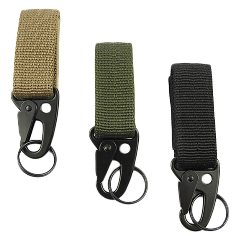 1 PC Outdoor Camping Tactical Backpack KeyHooks Survival Gear EDC Military Hanging Belt Keychain Clasp Keyring