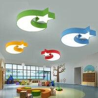 Современные светодиодные детская комната спальня потолочный светильник Теплый личности мультфильм звезда Луна облако для Для мальчиков и