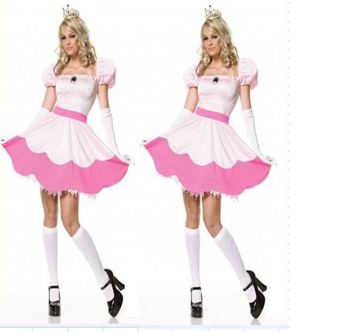 Sleeping Beauty Dress Halloween Peach Costume Women Costumes For