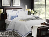 luxury white Bedding Set Queen/King Size White Color Embroidered Duvet Cover Sets 5 star Hotel Bed Linen Set Bedding Pillowcase