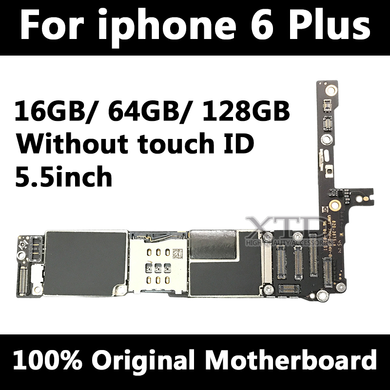 For Original iPhone 6 Plus 5.5inch Motherboard IOS System Mainboard Full Unlocked No Touch ID Logic Board Good WorkingFor Original iPhone 6 Plus 5.5inch Motherboard IOS System Mainboard Full Unlocked No Touch ID Logic Board Good Working