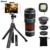 Nuevo teléfono lentes kit 12x zoom lente telefoto teleobjetivo para iphone 7 6 s Celular Bluetooth Shutter ojo de Pez Gran Angular Macro Lentes telescopio