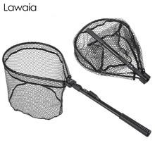 Lawaia Fishing Nets Hand-made Mesh Aluminum Alloy Fast Folding Fly Fishing Net short Section Anti-hanging Net Fishing Gear Tools of handmade кардиган