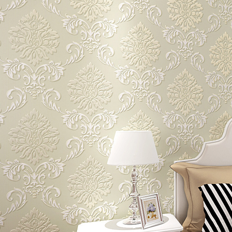 New Arrival Romantic European Style 3D Wallpaper Non Woven Wallpapers Mural Floral Wall Paper 4 Colors JR006 In From Home Improvement On