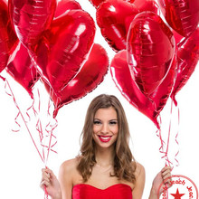 heart shaped wedding balloons helium foil inflatable balon baloon birthday decoration party supplies balloon