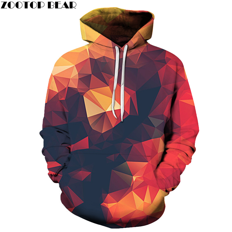 Hot Sale Men Sweatshirts 3D Hoodie Male Tracksuits Pullover Hoody Streetwear Coat With Hat Print 6XL Orange Drop Ship ZOOTOPBEAR