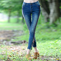 Fashion Casual Women Vintage Mid Waist Skinny Denim Jeans Slim Ripped Pencil Jeans Patchwork Pants Female Girls Trousers