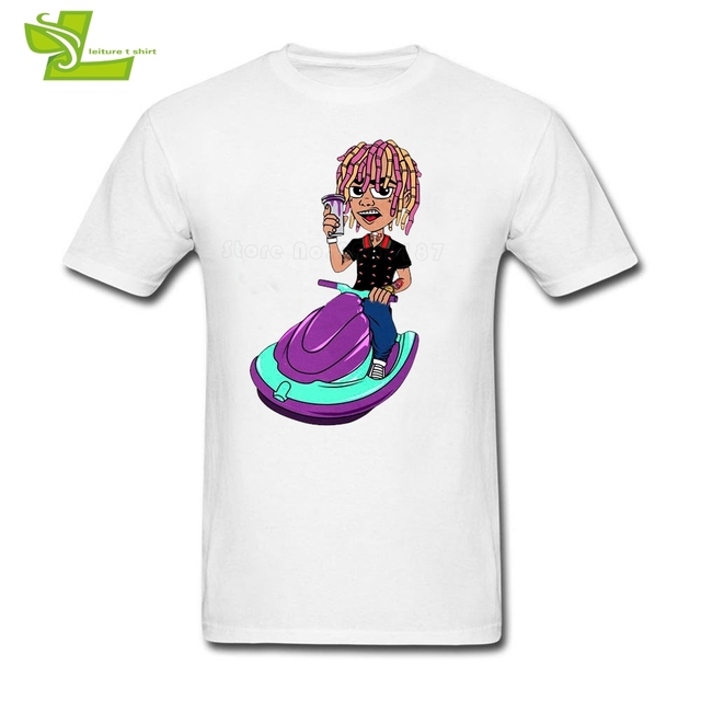2b46fb5a0 Lil Pump Man T Shirt Fashion Exercise Tops Men s Short Sleeve 100% Cotton  Camisetas Teenboys