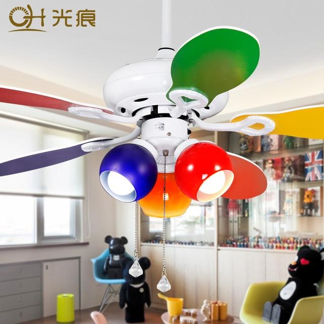 Fashion Cartoon Childrenu0027s Room Ceiling Fan Fan Lamp Lighting The Baby Room  Kids Room Ceiling Fan With Chandelier
