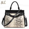 2017 Fashion Female Woman Handbags Python Pattern Genuine Leather Handbags For Women Messenger Cross body Bags Lady Loved