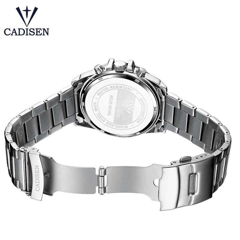 NOWY 2018 Marka CADISEN Zegarki mężczyźni Fashion Casual Zegarek - Męskie zegarki - Zdjęcie 4